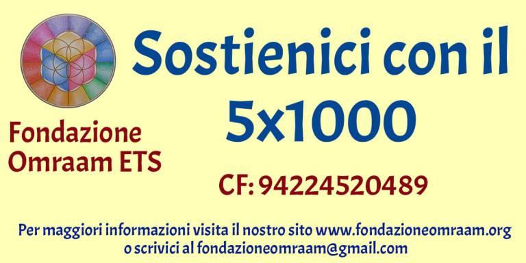 5x1000 fondazione Omraam ets